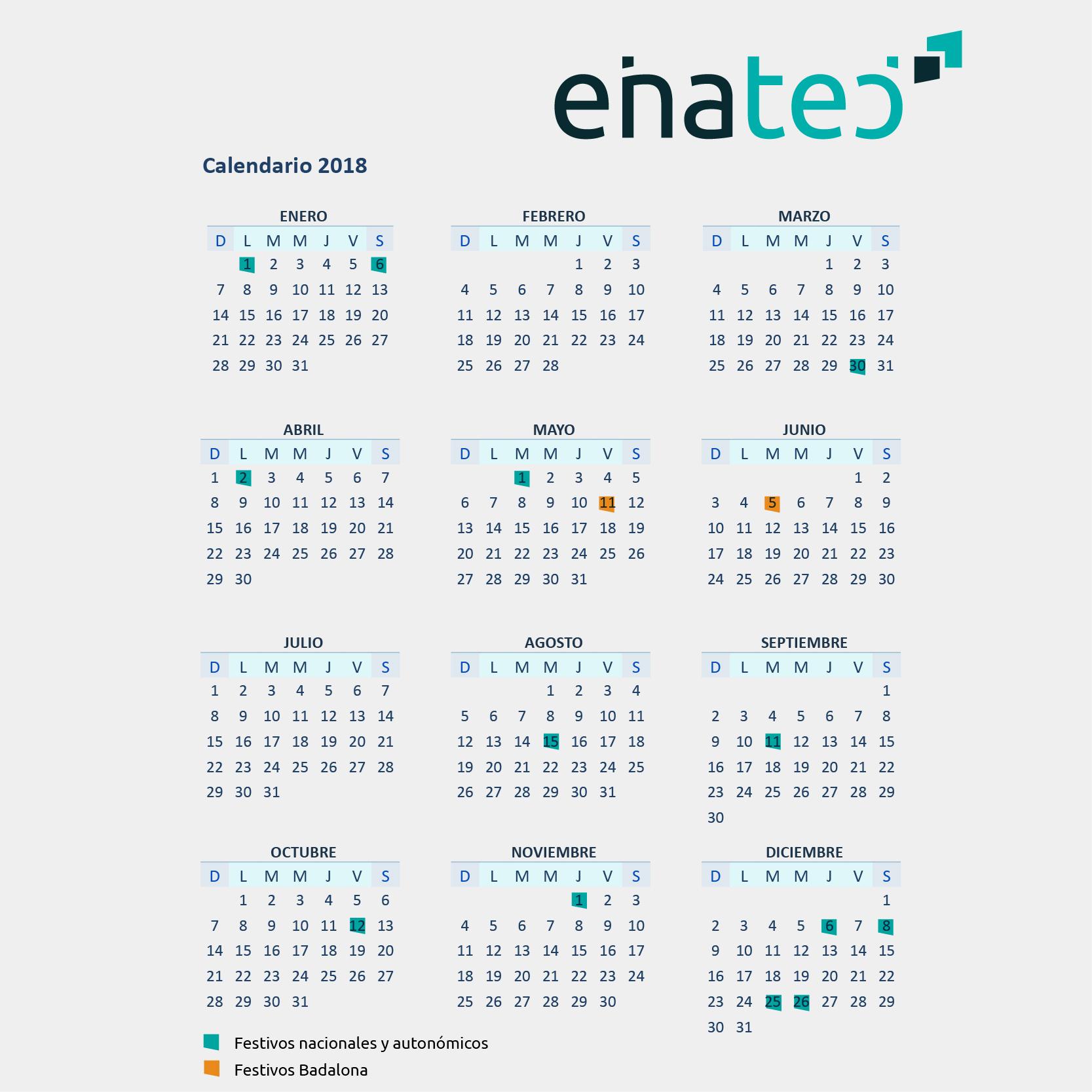 Calendario Laboral De Cataluna.Calendario Laboral Del 2018 En Catalunya Y Badalona