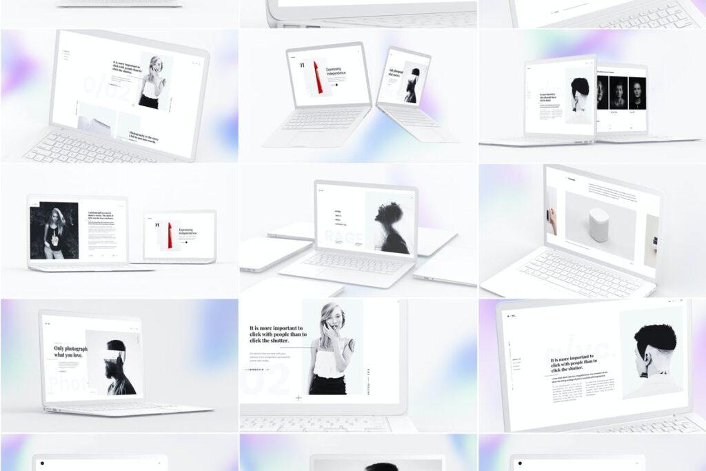 El color blanco en la publicidad web