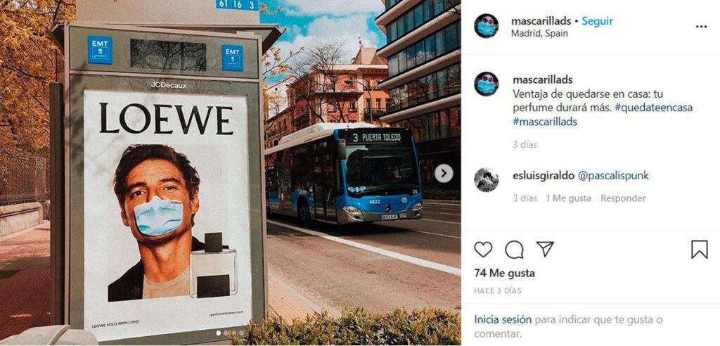 Campaña publicitaria contra el coronavirus