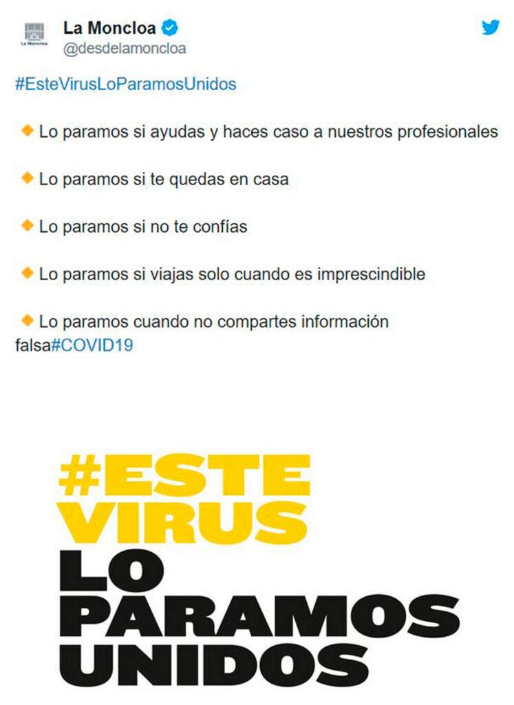 campaña publicitaria del gobierno contra el coronavirus