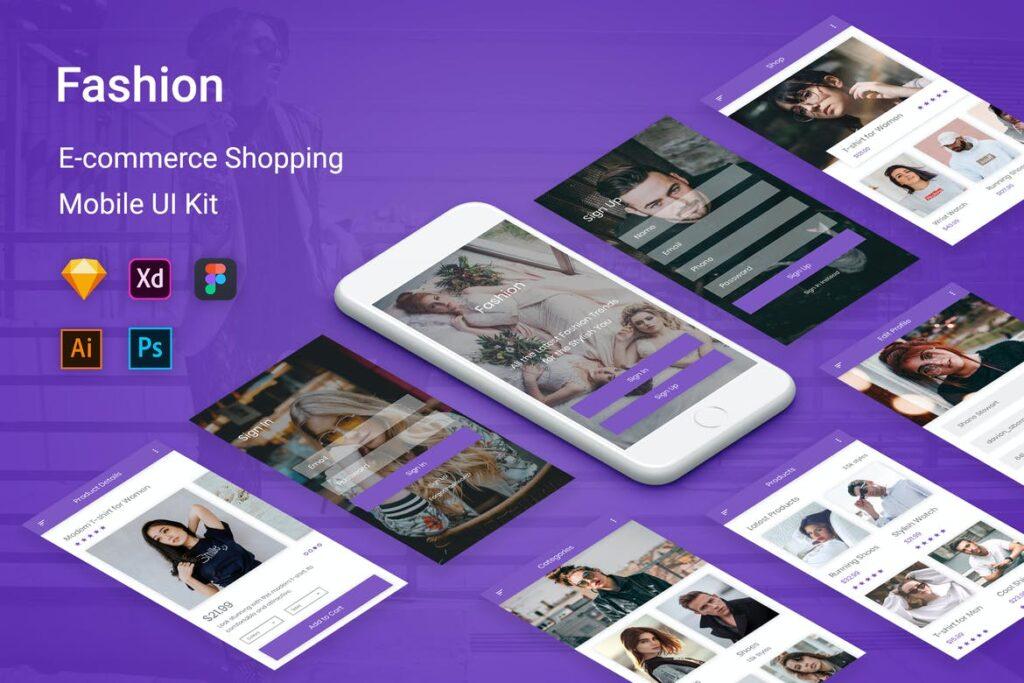 diseño para un app empresarial de eccomerce